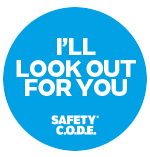Blue look out badge