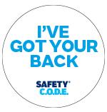 White got your back badge