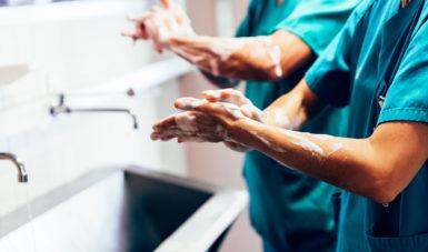 Surgeons Washing Hands Before Operating iStock 687758768